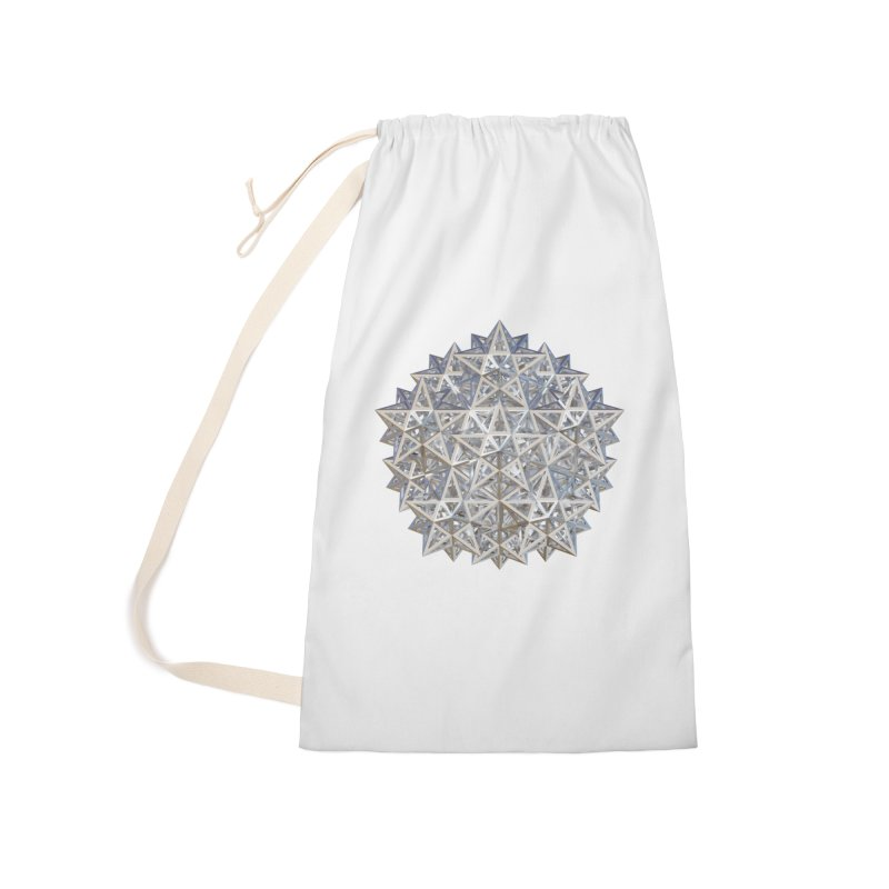14 Stellated Dodecahedrons Silver Accessories Laundry Bag Bag by diamondheart's Artist Shop