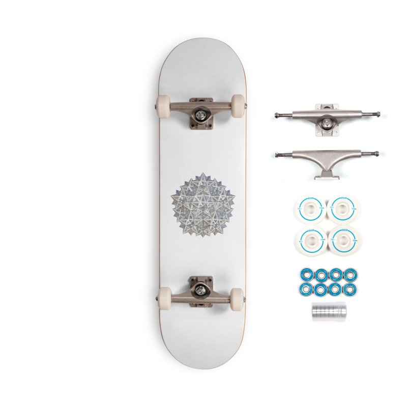 14 Stellated Dodecahedrons Silver Accessories Complete - Basic Skateboard by diamondheart's Artist Shop
