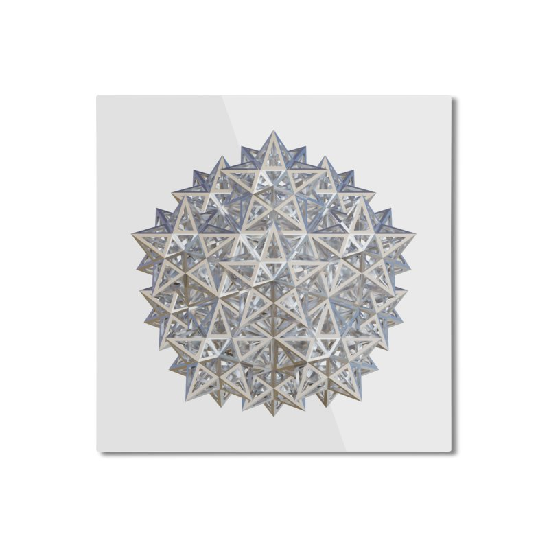 14 Stellated Dodecahedrons Silver Home Mounted Aluminum Print by diamondheart's Artist Shop