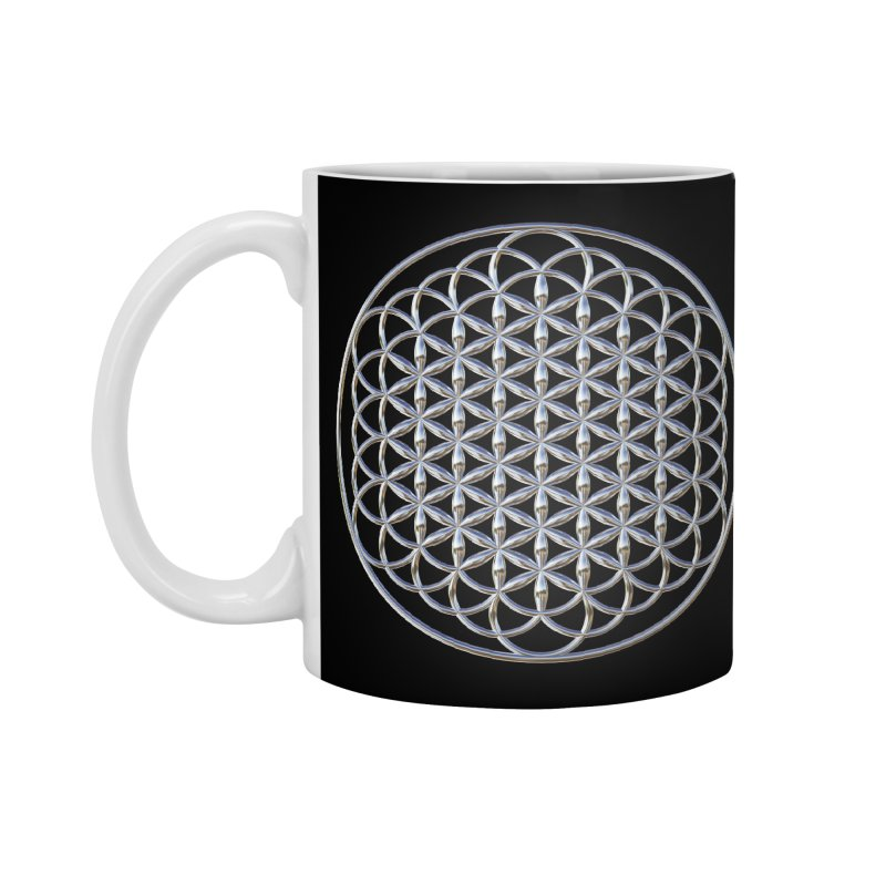 Extended Flower of Life Silver Accessories Mug by diamondheart's Artist Shop
