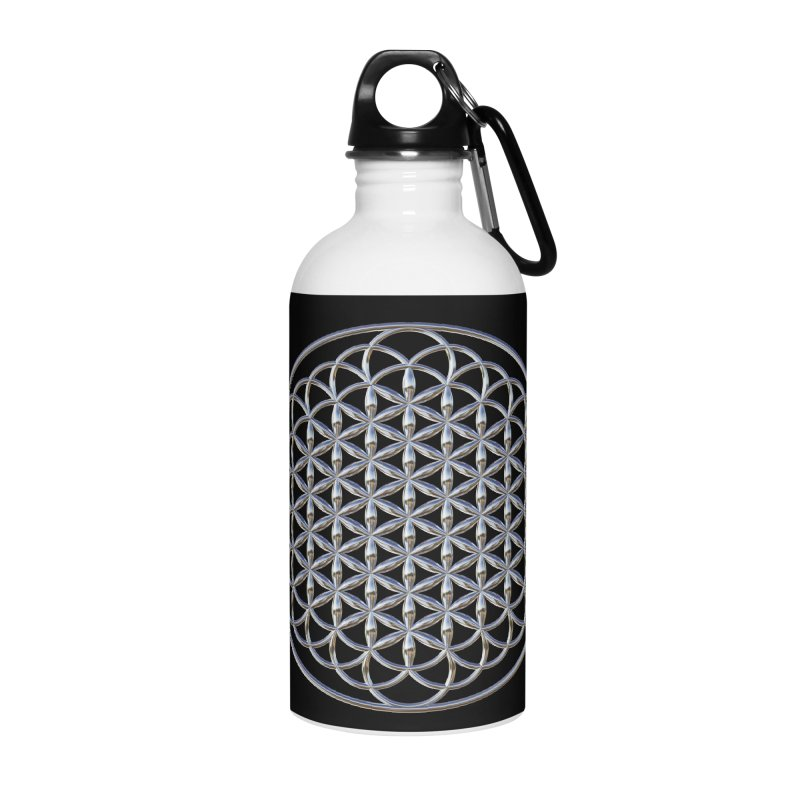 Extended Flower of Life Silver Accessories Water Bottle by diamondheart's Artist Shop