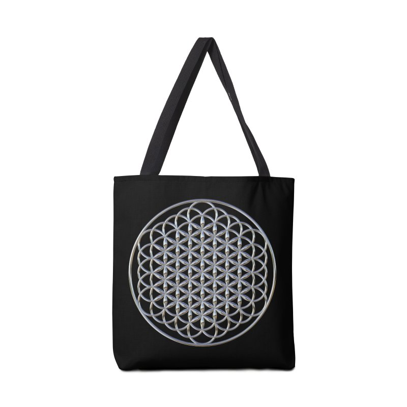 Extended Flower of Life Silver Accessories Tote Bag Bag by diamondheart's Artist Shop