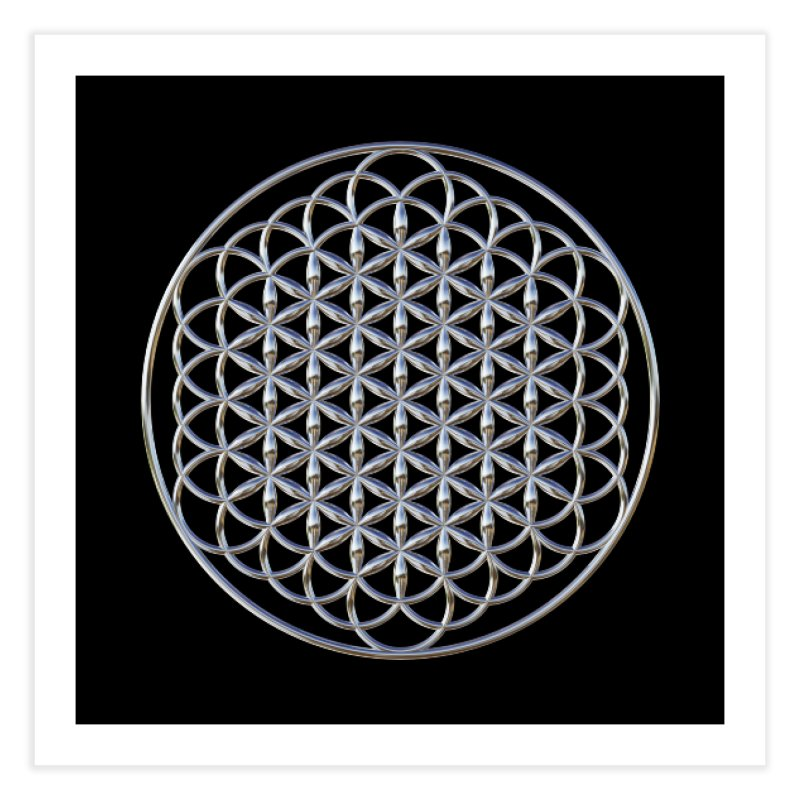 Extended Flower of Life Silver Home Fine Art Print by diamondheart's Artist Shop