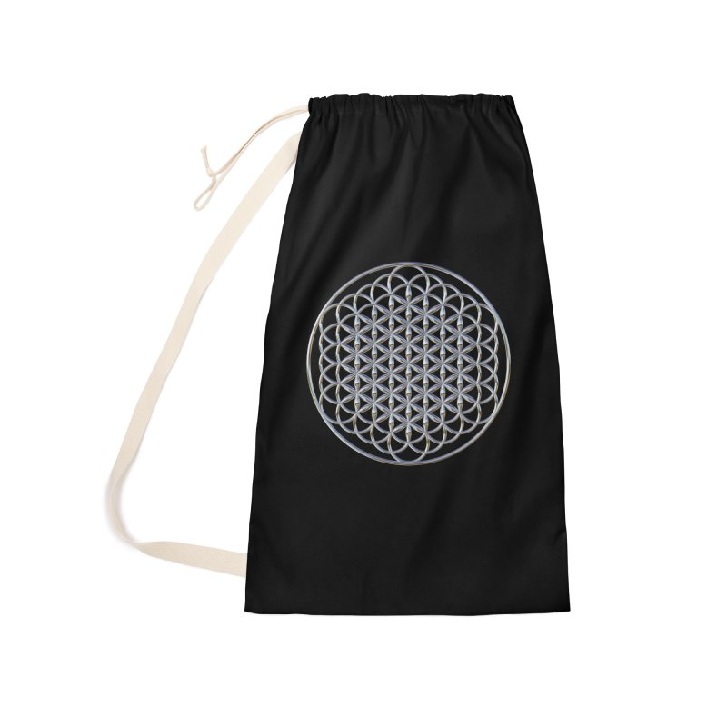 Extended Flower of Life Silver Accessories Laundry Bag Bag by diamondheart's Artist Shop