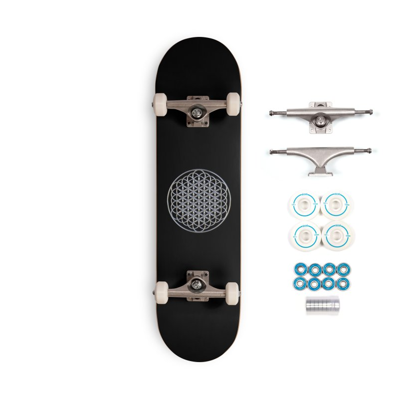 Extended Flower of Life Silver Accessories Complete - Basic Skateboard by diamondheart's Artist Shop