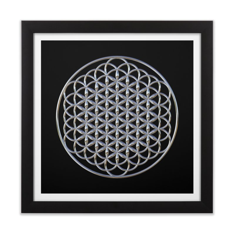 Extended Flower of Life Silver Home Framed Fine Art Print by diamondheart's Artist Shop