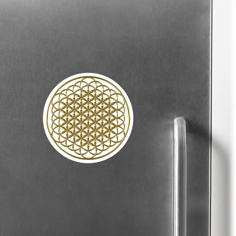 Extended Flower of Life Gold Accessories Magnet by diamondheart's Artist Shop