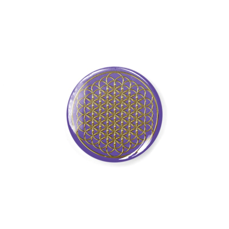 Extended Flower of Life Gold Accessories Button by diamondheart's Artist Shop
