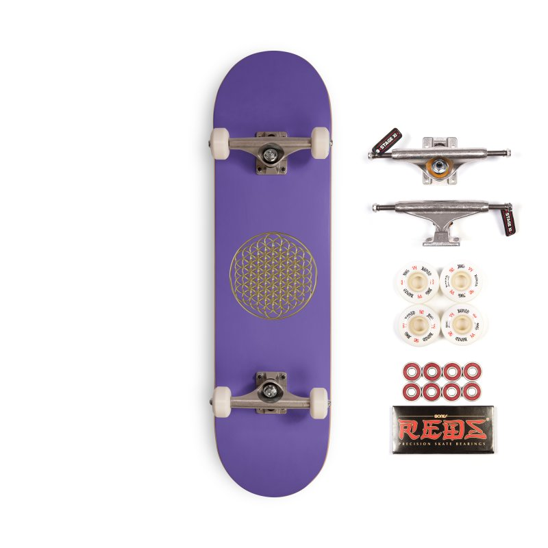 Extended Flower of Life Gold Accessories Complete - Pro Skateboard by diamondheart's Artist Shop