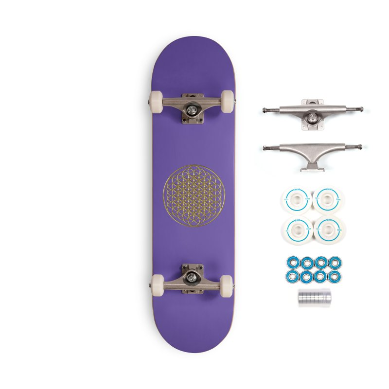 Extended Flower of Life Gold Accessories Complete - Basic Skateboard by diamondheart's Artist Shop