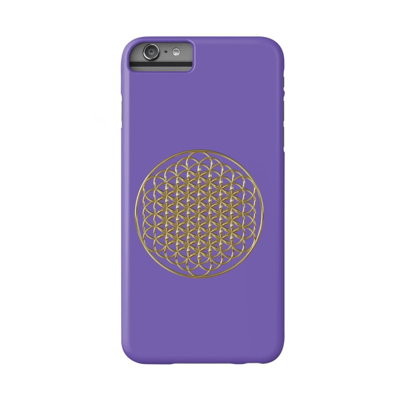 Extended Flower of Life Gold Accessories Phone Case by diamondheart's Artist Shop