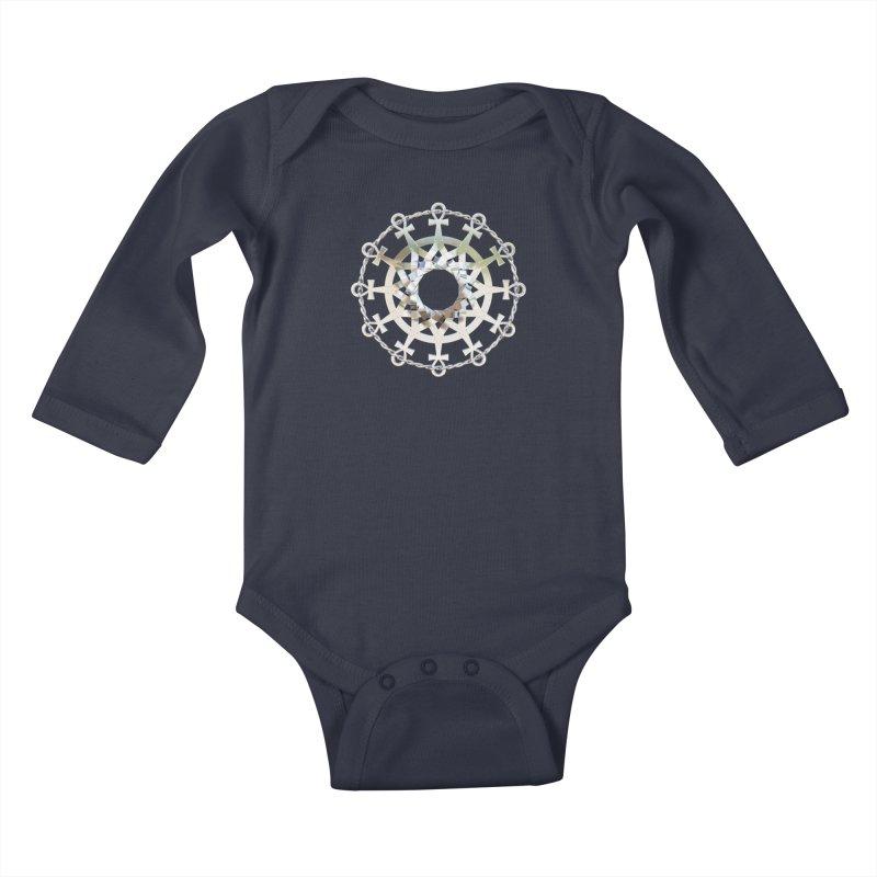 Ultra Star of Metatron Ag (13th Key) Kids Baby Longsleeve Bodysuit by diamondheart's Artist Shop