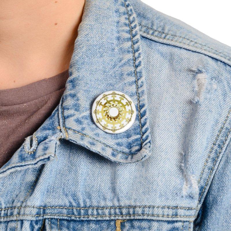 Ultra Star of Metatron Au (13th Key) Accessories Button by diamondheart's Artist Shop