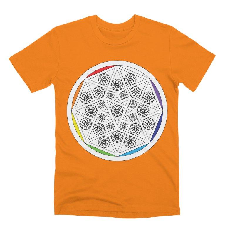 Tesseract Tesselation Men's T-Shirt by diamondheart's Artist Shop