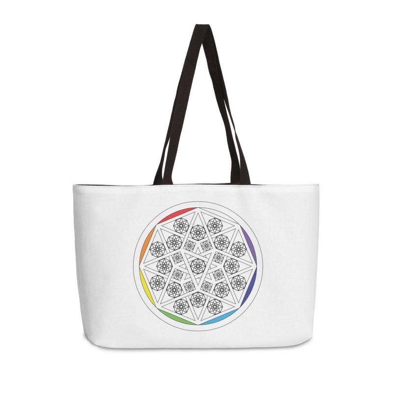 Tesseract Tesselation Accessories Bag by diamondheart's Artist Shop