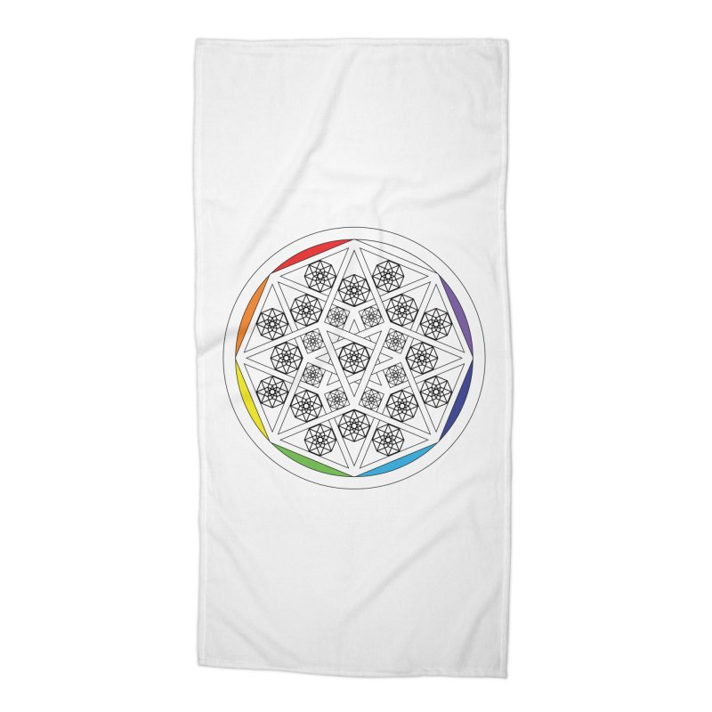 Tesseract Tesselation Accessories Beach Towel by diamondheart's Artist Shop