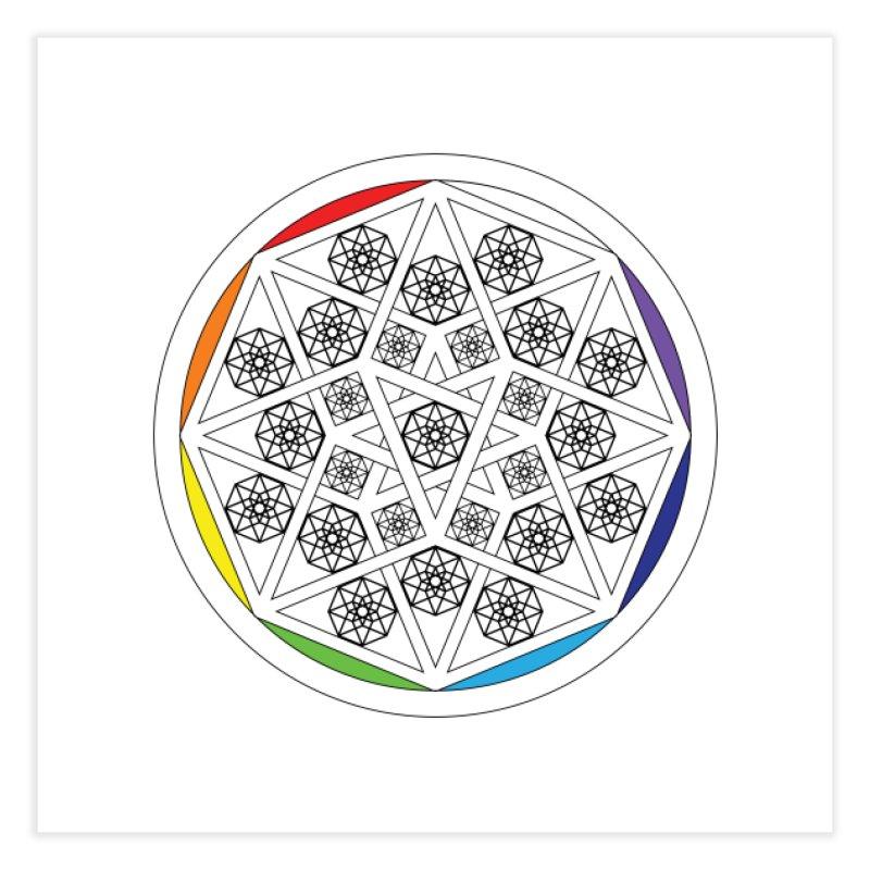 Tesseract Tesselation Home Fine Art Print by diamondheart's Artist Shop