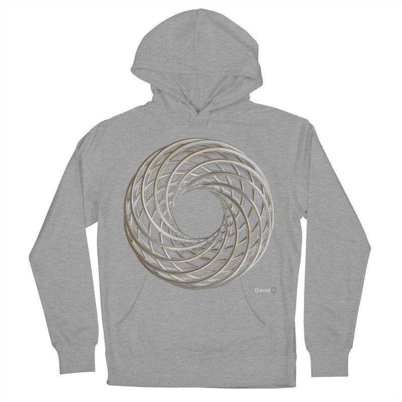 Silver Vortex Coil Men's French Terry Pullover Hoody by diamondheart's Artist Shop