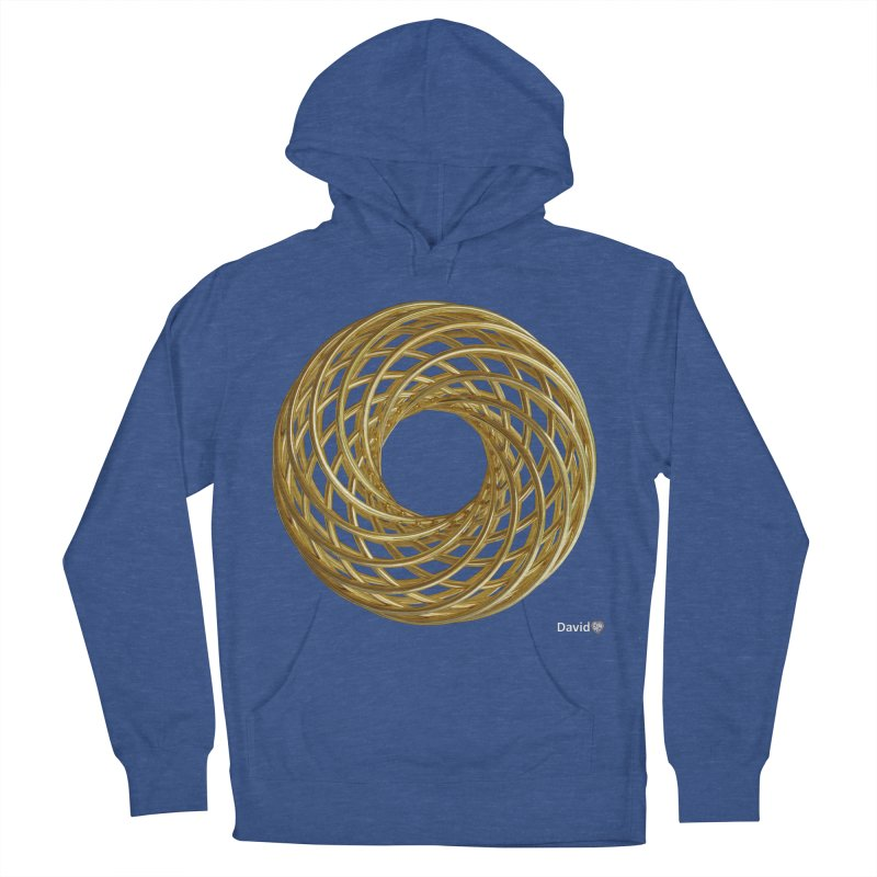 Gold Vortex Coil Men's French Terry Pullover Hoody by diamondheart's Artist Shop
