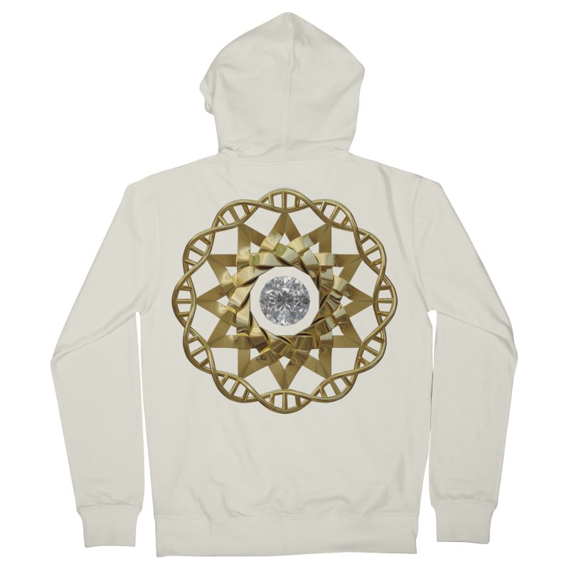 12 Strand DNA Gold Women's French Terry Zip-Up Hoody by diamondheart's Artist Shop