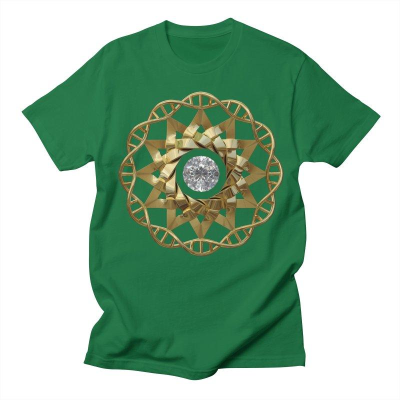 12 Strand DNA Gold Women's Regular Unisex T-Shirt by diamondheart's Artist Shop