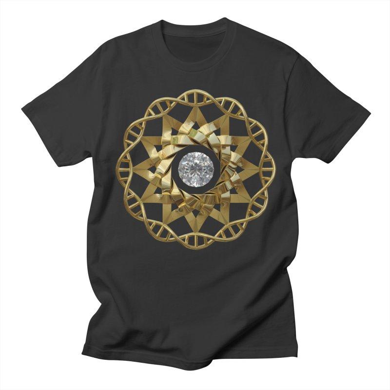 12 Strand DNA Gold Men's Regular T-Shirt by diamondheart's Artist Shop