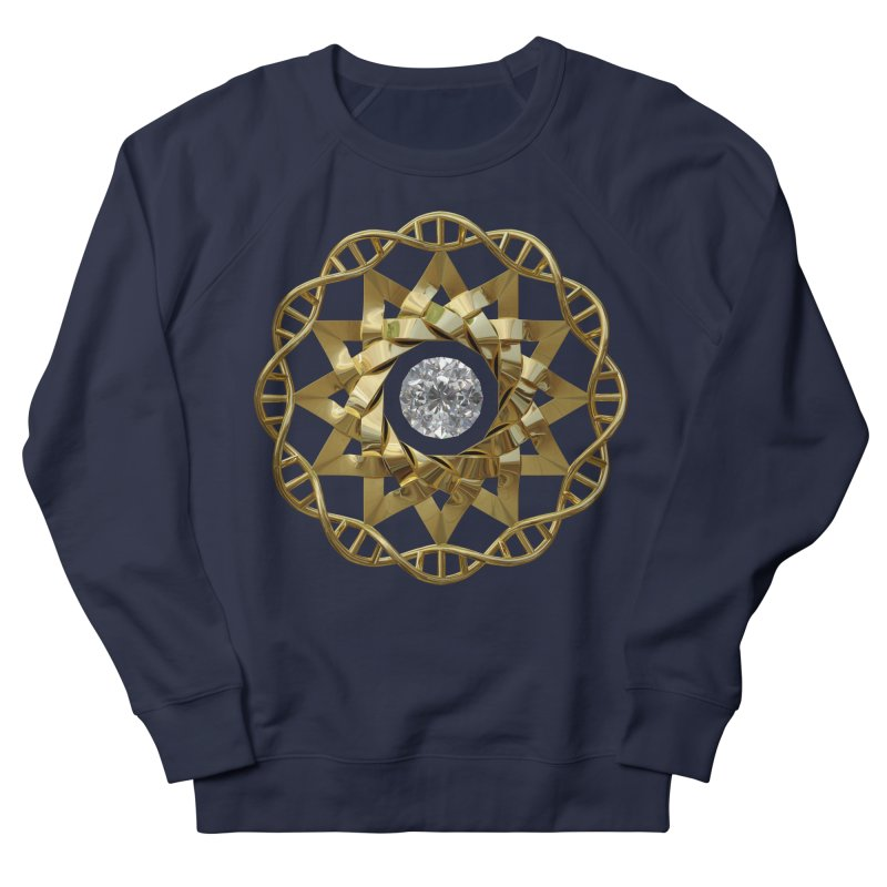12 Strand DNA Gold Men's French Terry Sweatshirt by diamondheart's Artist Shop