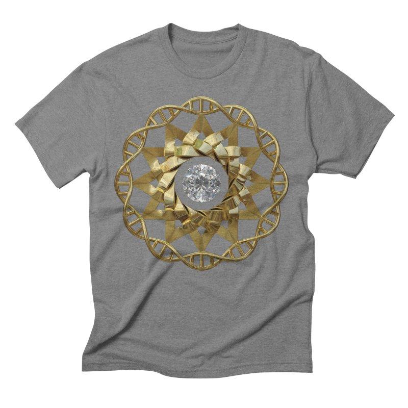 12 Strand DNA Gold Men's Triblend T-Shirt by diamondheart's Artist Shop