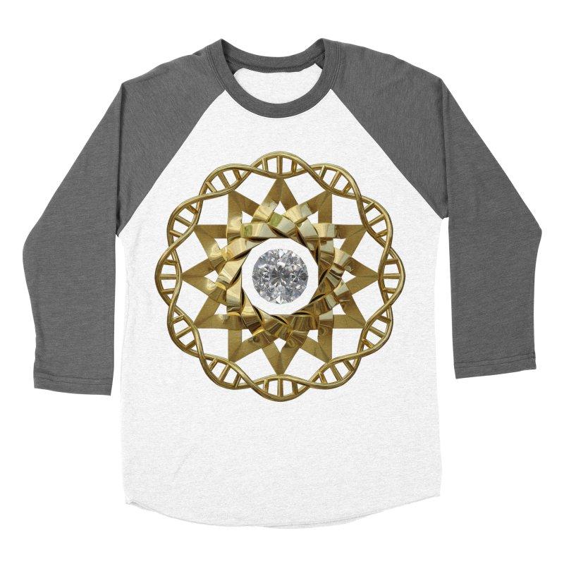 12 Strand DNA Gold Women's Baseball Triblend Longsleeve T-Shirt by diamondheart's Artist Shop