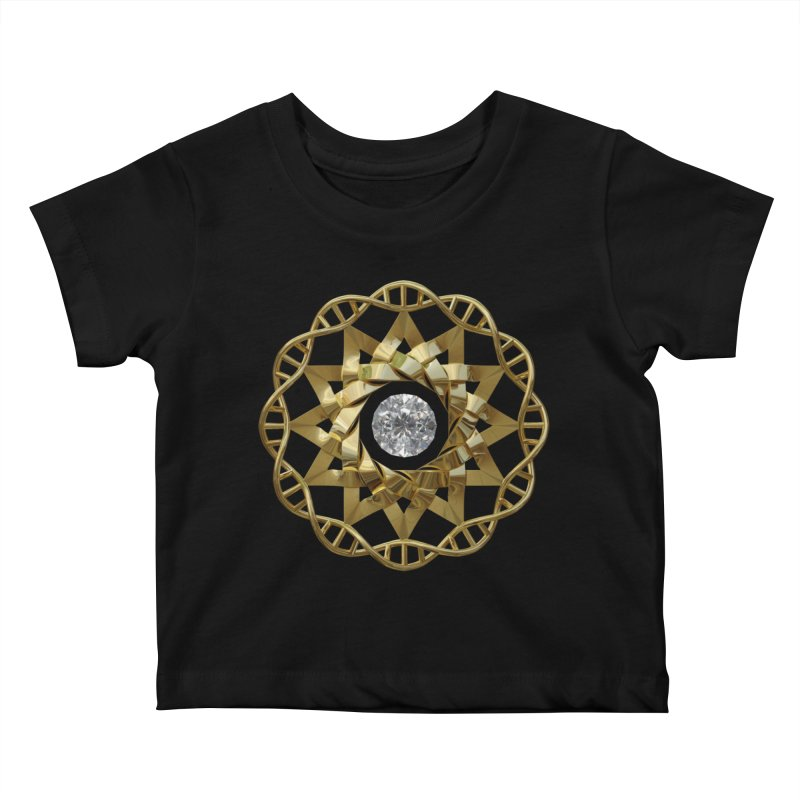 12 Strand DNA Gold Kids Baby T-Shirt by diamondheart's Artist Shop