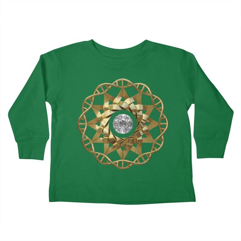 12 Strand DNA Gold Kids Toddler Longsleeve T-Shirt by diamondheart's Artist Shop