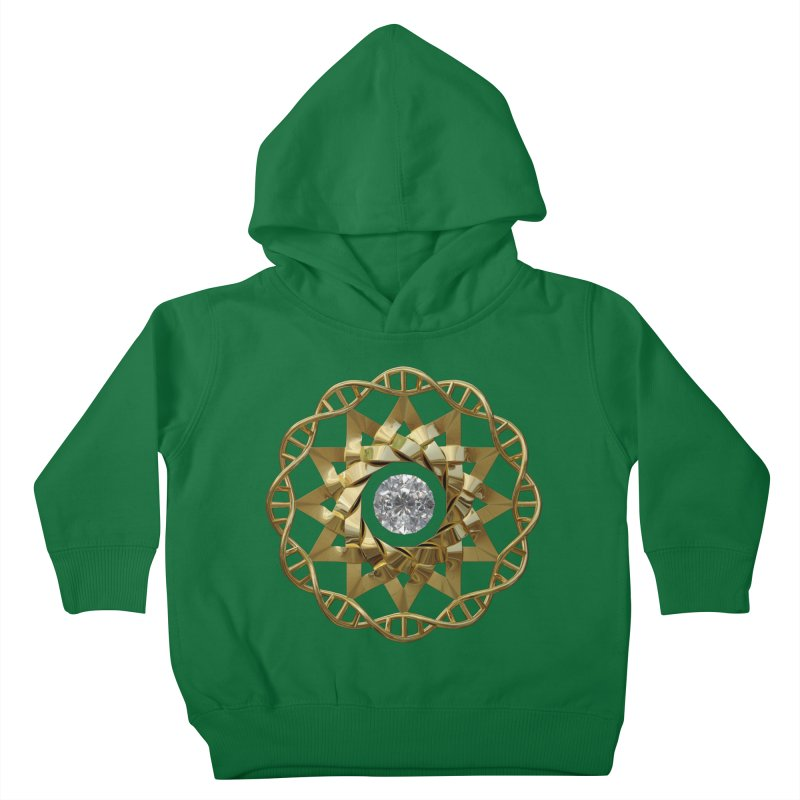 12 Strand DNA Gold Kids Toddler Pullover Hoody by diamondheart's Artist Shop