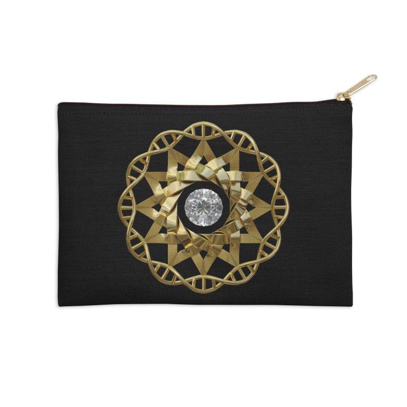 12 Strand DNA Gold Accessories Zip Pouch by diamondheart's Artist Shop