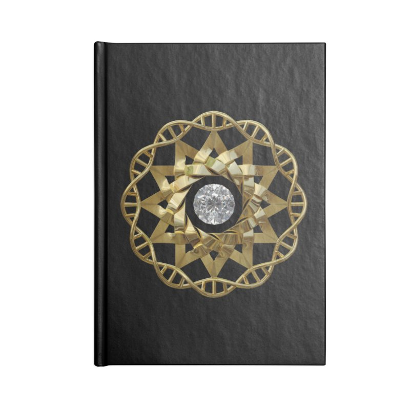 12 Strand DNA Gold Accessories Notebook by diamondheart's Artist Shop