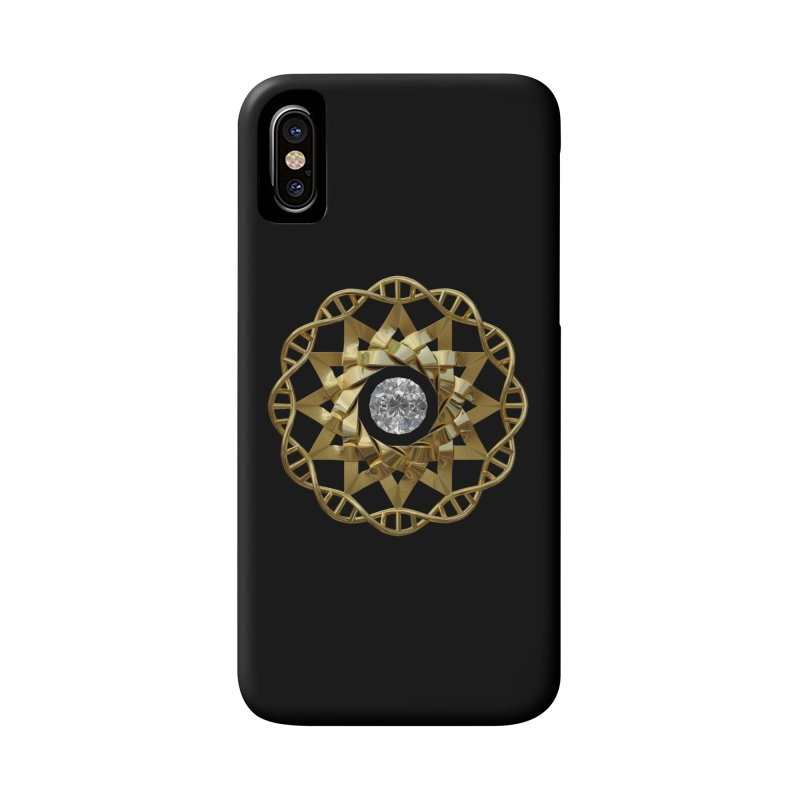12 Strand DNA Gold Accessories Phone Case by diamondheart's Artist Shop