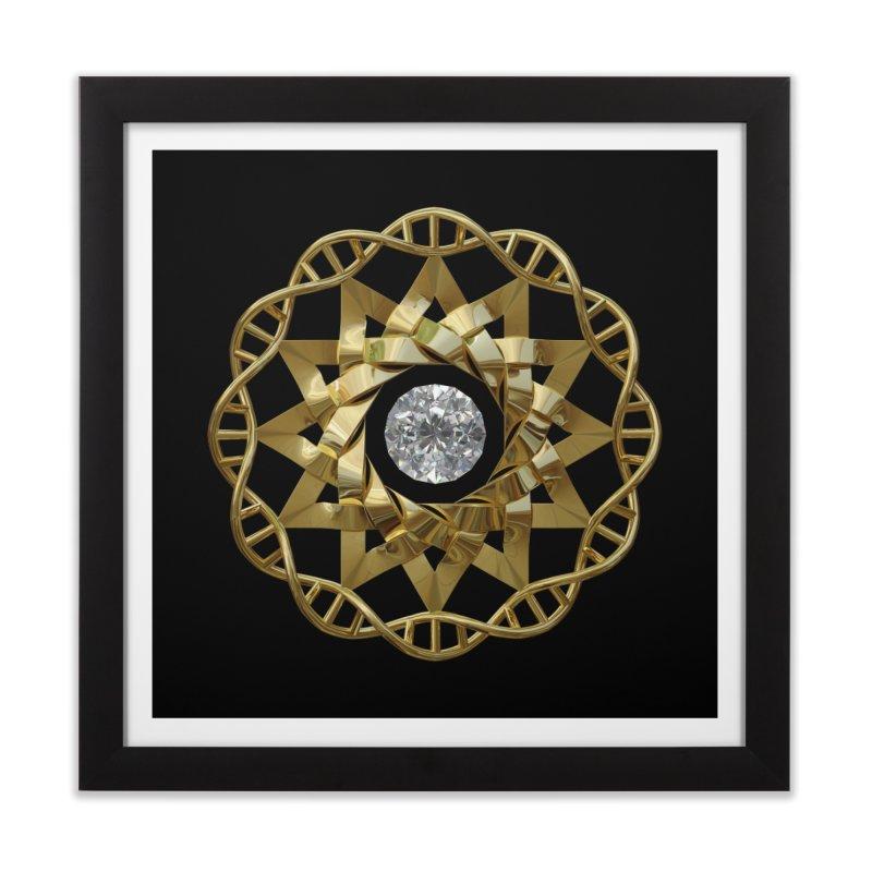 12 Strand DNA Gold Home Framed Fine Art Print by diamondheart's Artist Shop