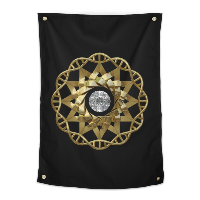 12 Strand DNA Gold Home Tapestry by diamondheart's Artist Shop