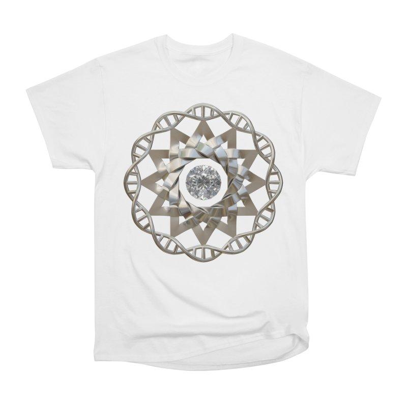 12 Strand DNA Silver Women's Heavyweight Unisex T-Shirt by diamondheart's Artist Shop