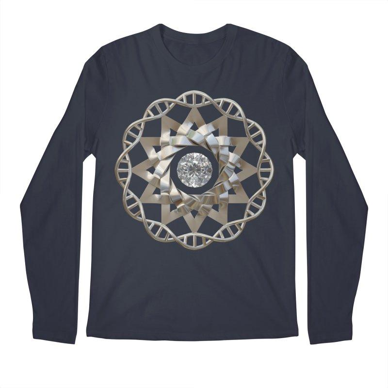 12 Strand DNA Silver Men's Regular Longsleeve T-Shirt by diamondheart's Artist Shop