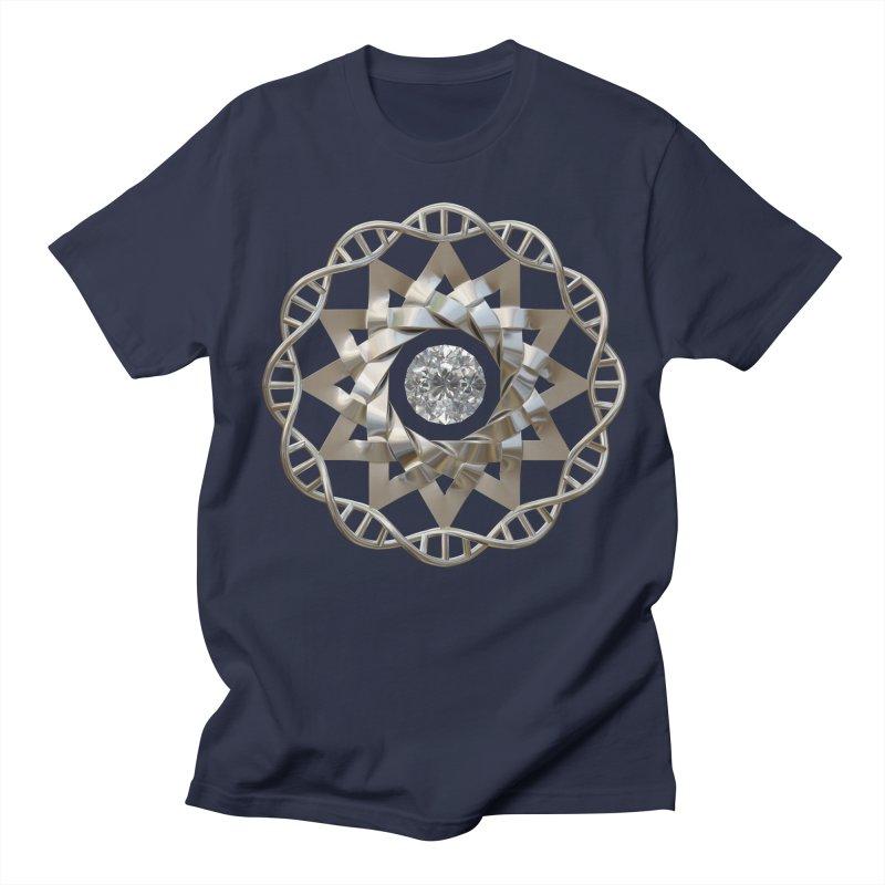 12 Strand DNA Silver Men's Regular T-Shirt by diamondheart's Artist Shop