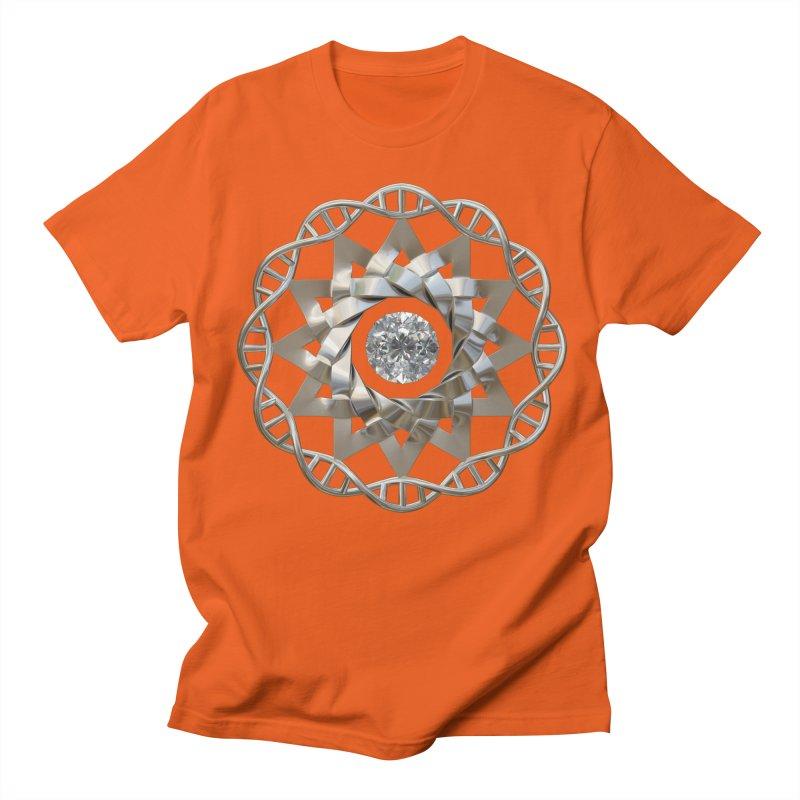 12 Strand DNA Silver Women's Regular Unisex T-Shirt by diamondheart's Artist Shop