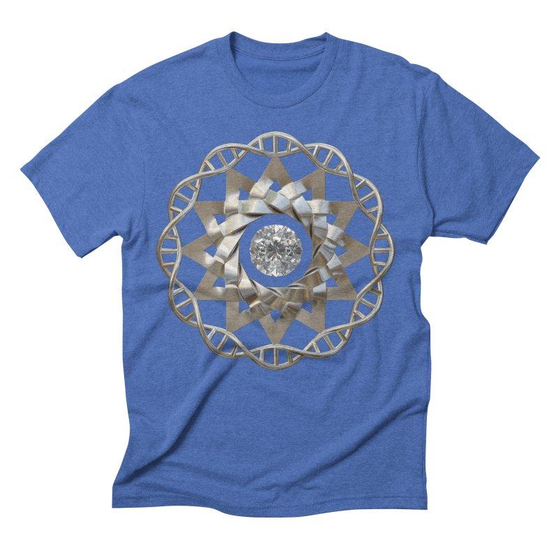 12 Strand DNA Silver Men's Triblend T-Shirt by diamondheart's Artist Shop