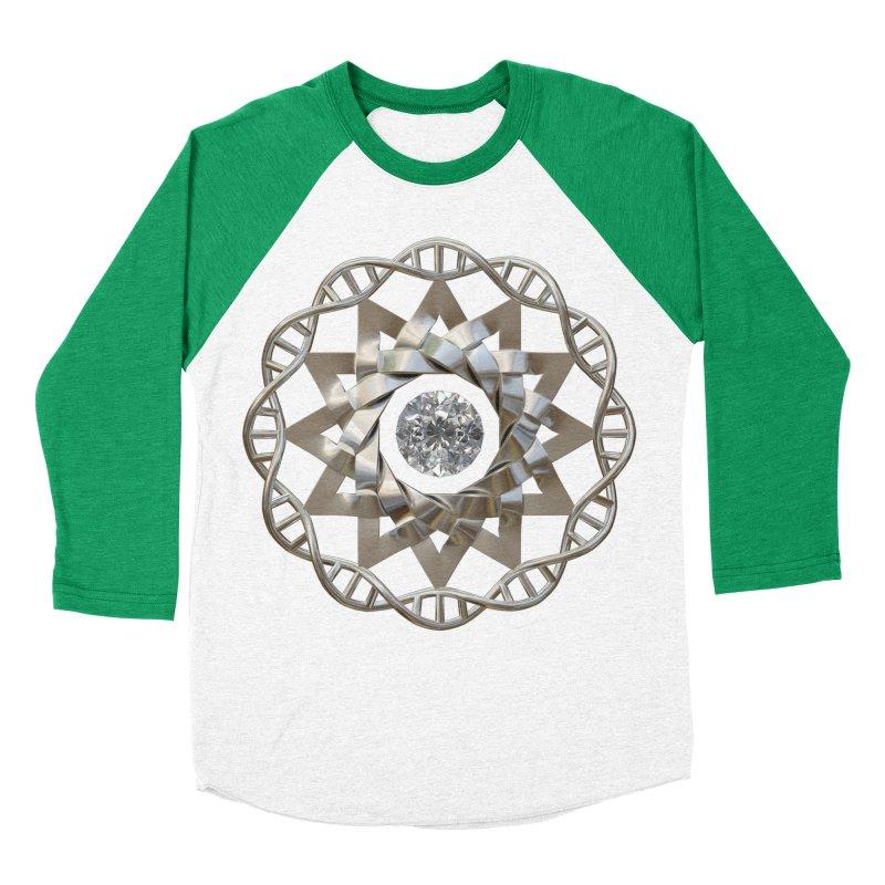 12 Strand DNA Silver Women's Baseball Triblend Longsleeve T-Shirt by diamondheart's Artist Shop