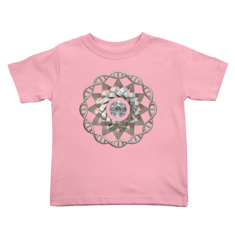 12 Strand DNA Silver Kids Toddler T-Shirt by diamondheart's Artist Shop