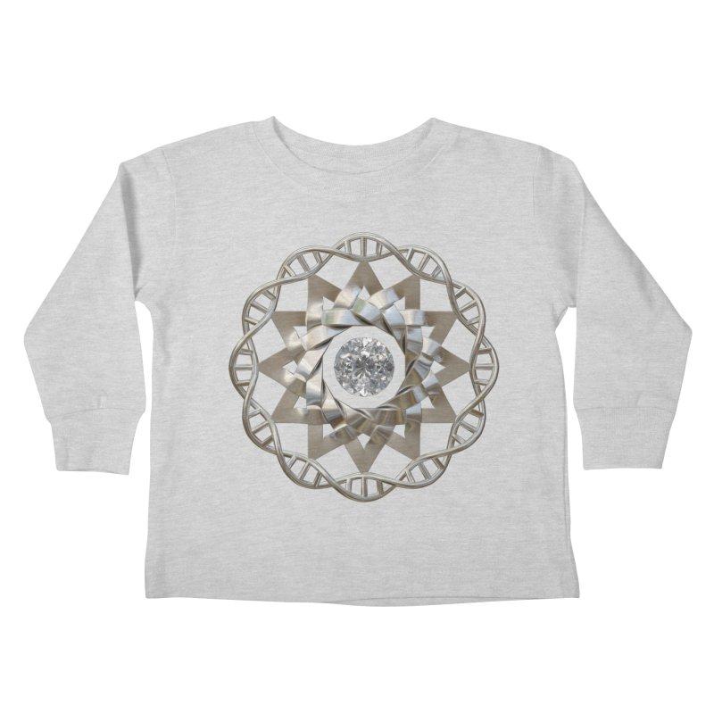 12 Strand DNA Silver Kids Toddler Longsleeve T-Shirt by diamondheart's Artist Shop