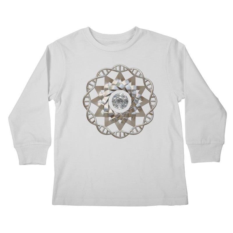 12 Strand DNA Silver Kids Longsleeve T-Shirt by diamondheart's Artist Shop