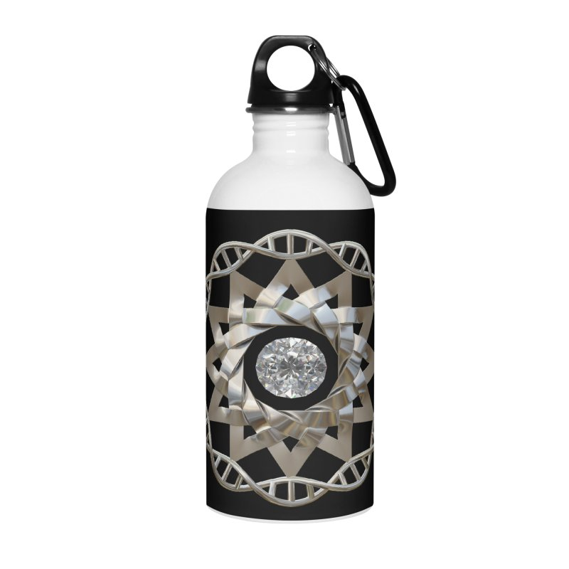12 Strand DNA Silver Accessories Water Bottle by diamondheart's Artist Shop