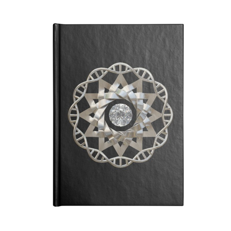 12 Strand DNA Silver Accessories Notebook by diamondheart's Artist Shop