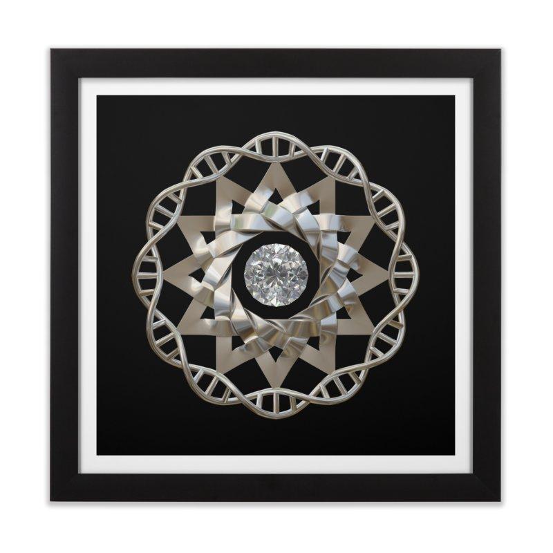 12 Strand DNA Silver Home Framed Fine Art Print by diamondheart's Artist Shop