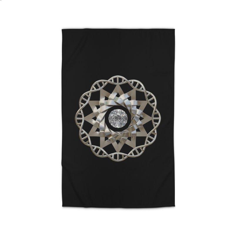12 Strand DNA Silver Home Rug by diamondheart's Artist Shop